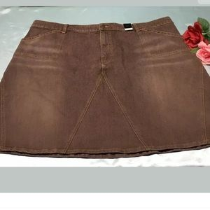 Lane Bryant Venezia Denim jean Skirt Sz 26 A-line